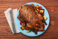 Festive roast duck with vegetables Royalty Free Stock Photography