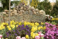 Festive Rock Wall Stock Image