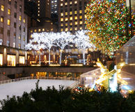 A Festive Rockefeller Center Royalty Free Stock Photography