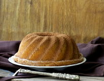 Festive round biscuit cake royalty free stock photos