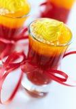 Festive ruit jelly verrines Royalty Free Stock Photo