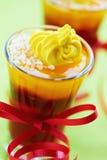 Festive ruit jelly verrines Stock Photos