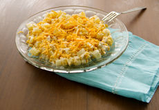 Festive salad with chicken breast, sweet corn, cheese and pineapple Royalty Free Stock Photo