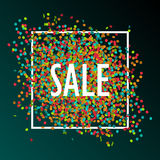 Festive sale background. With colorful confetti, eps 10 Royalty Free Stock Photos