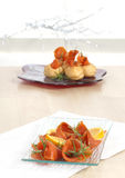 Festive salmon appetizers Stock Photography