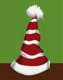 Festive Santa's Pointy Hat , Vector Illustration Stock Photo
