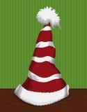Festive Santa's Pointy Hat , Vector Illustration stock photo