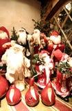Festive Santas Stock Photo