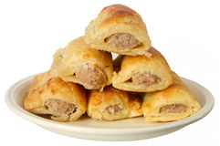 Festive sausage rolls. Royalty Free Stock Images