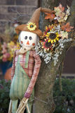 Festive scarecrow. Royalty Free Stock Photos