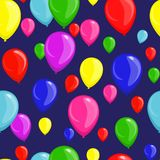 Festive seamless background with balloons royalty free stock photography