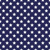 Festive seamless background in national colors USA red white blue. Strips and stars, fireworks Great idea for decorating the holid. Festive seamless background Stock Image