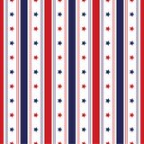 Festive seamless background in national colors USA red white blue. Strips and stars, fireworks Great idea for decorating the holid. Festive seamless background Stock Images