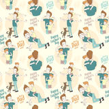 Festive seamless doodle pattern for father's day. Vector illustration Festive seamless doodle pattern for father's day Stock Images