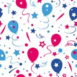 Festive seamless funny colorful pattern balloons. Vector festive seamless funny colorful pattern balloons Stock Image