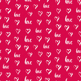Festive seamless hand-drawn pattern. For Valentines Day or wedding design. Design element for banner, card, invitation, postcard, textile, fabric. Vector Stock Photography
