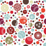 Festive seamless pattern with funny polka dot of different size. Stock Photo