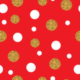 Festive Seamless Pattern Gold. Festive Seamless Pattern with Gold dots. Polka, Dot, Small Chaotic Point Stock Photo