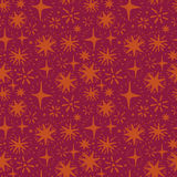 Festive seamless pattern with hand drawn holiday lights. Sketch stars, vector illustration Royalty Free Stock Photography