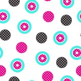 Festive Background in Memphis Style. Festive Seamless Pattern in Memphis Pop Art Style Colorful Decorative Wallpaper with Simple Bold Block, geometric shapes Stock Photography