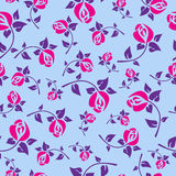 Festive seamless pattern with roses Stock Photos