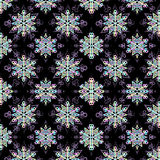 Festive seamless pattern with snowflake. Stock Photo