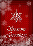 Festive Season Greeting Card. A Festive Season Greeting card in red with snowflakes Stock Photos