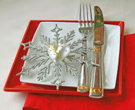 Festive serving of table Stock Image