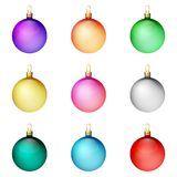 A festive set of bright Christmas balls. Merry Christmas. Royalty Free Stock Images