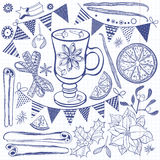 Festive  set. Isolated design elements for invitations Royalty Free Stock Images