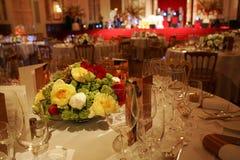 Festive set table Stock Images