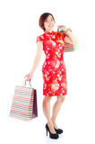 Festive shopping Stock Photography