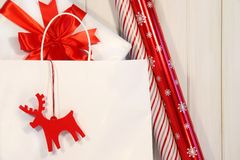 Festive shopping bag Royalty Free Stock Photos