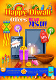 Festive Shopping Offer for Diwali holiday promotion and advertisement. Illustration of Festive Shopping Offer for Diwali holiday promotion and advertisement Royalty Free Stock Image