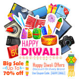 Festive Shopping Offer for Diwali holiday promotion and advertisment Royalty Free Stock Photos