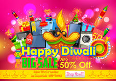 Festive Shopping Offer for Diwali holiday promotion. Illustration of Festive Shopping Offer for Diwali holiday promotion Royalty Free Stock Photos