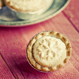 Festive shortcrust pastry mince pies. A sweet mince pie, a tradi Stock Photography