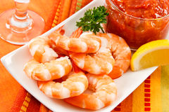 Festive Shrimp Cocktail Stock Images