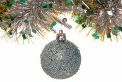 Festive silvery  ball Stock Images