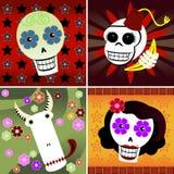 Festive Skulls Stock Image