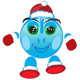 Festive smail. Vector illustration festive smail on white background Stock Images