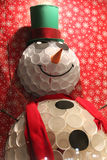 Festive smiling snowman Royalty Free Stock Images