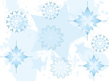Festive snow flake background Royalty Free Stock Images
