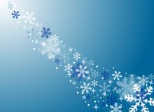 Festive Snow and Ice Background Stock Image