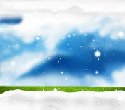 Festive snow winter scenery background Royalty Free Stock Images