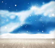 Festive snow winter scenery background Royalty Free Stock Photography