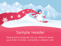 Festive Snowboarding Stock Photography