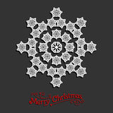 Festive snowflake Royalty Free Stock Images