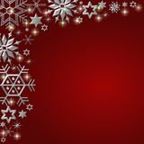 Festive snowflake frame Royalty Free Stock Photo