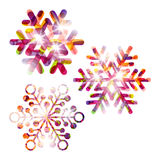 Festive snowflake set Stock Images
